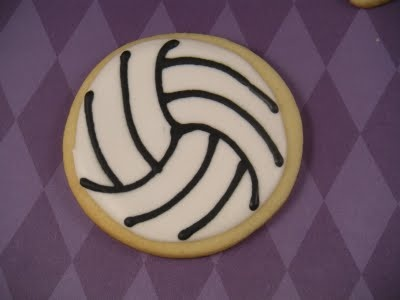 Volleyball cookies! Cute!!!