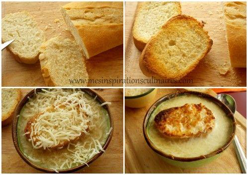 Soupe à l'oignon gratinée facile Une délicieuse soupe à l'oignon qui fait du bien surtout avec la...