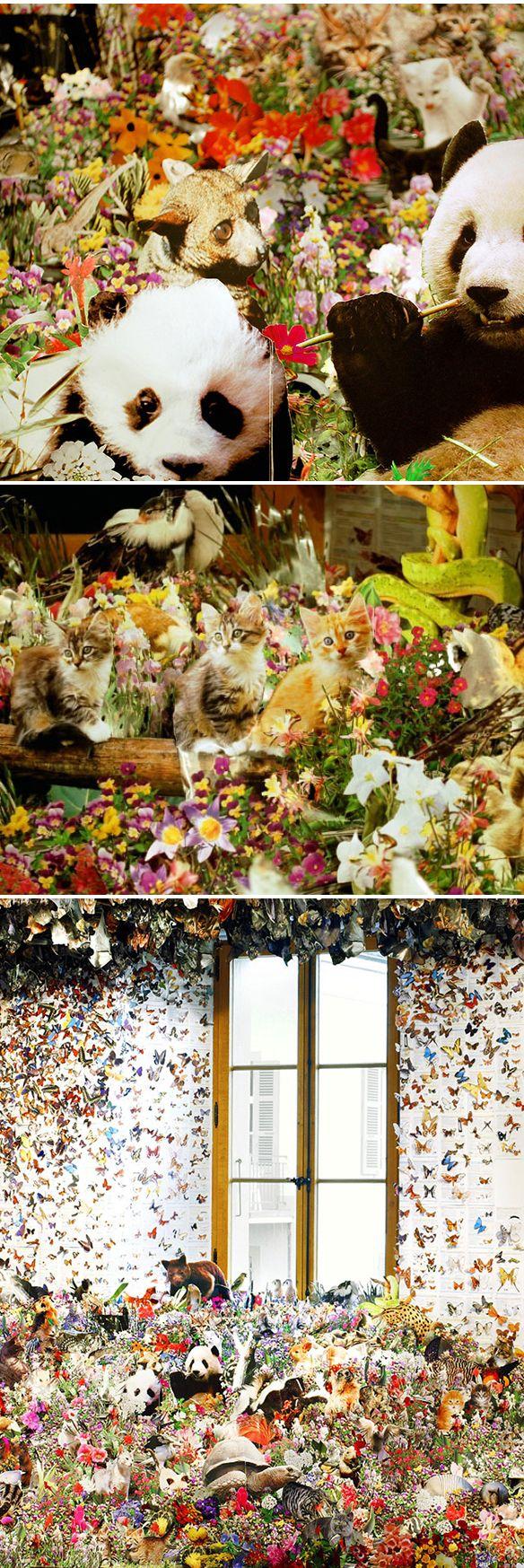 andrea mastrovito - installation meets collage!