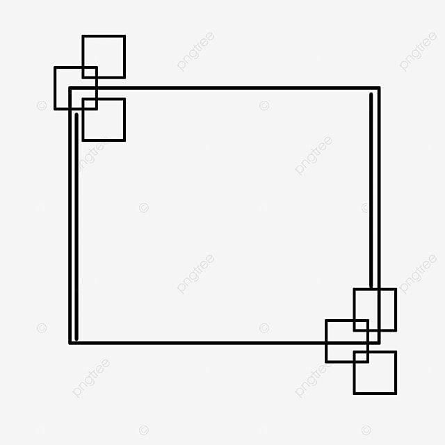 Black Square Frame Black Line Square Png Transparent Clipart Image And Psd File For Free Download In 2021 Square Frames Black Square White Photo Frames