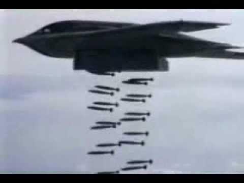 B-1 B-2 & B-52 Doing Heavy Carpet Bombing