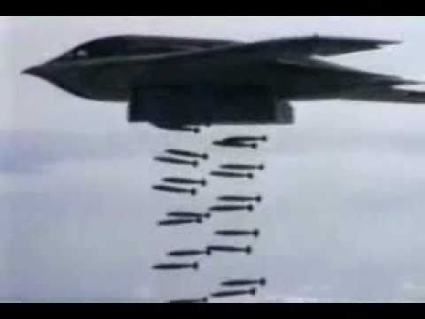 B-1 B-2 & B-52 Doing Heavy Carpet Bombing. Putting out the fire, w/GASOLINE