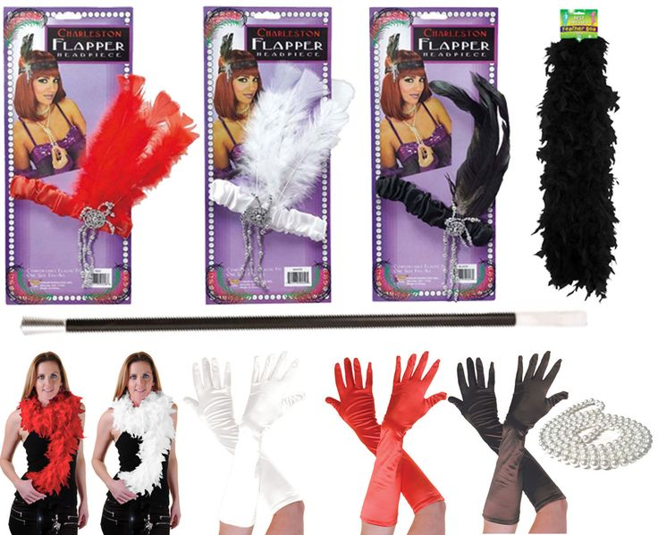 1920s #ladies #girls flapper charleston boas #gloves headband gangster fancy dres,  View more on the LINK: 	http://www.zeppy.io/product/gb/2/371728618239/