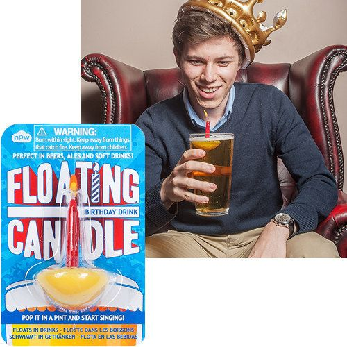 These floating birthday candles will go great with a celebratory shot of Fireball.