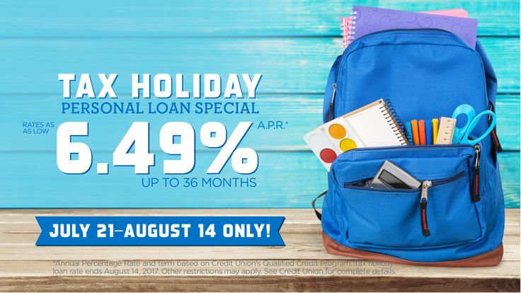 Need some extra cash for school supplies this tax holiday weekend? Stop by any ORNL Federal Credit Union Branch or visit us at www.ornlfcu.com to apply for a low-rate personal loan.
