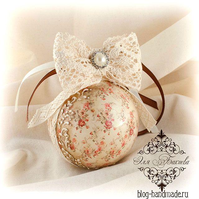 декор елочных шаров своими руками-новогодние украшения на елку