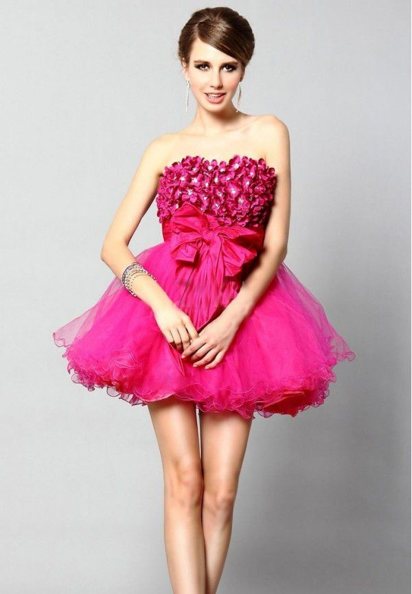 Pink cocktail dresses for prom