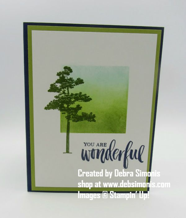 Clean & Simple masculine card. Stampin-Up-Rooted-in-Nature-masculine-card-Debra-Simonis-Stampinup