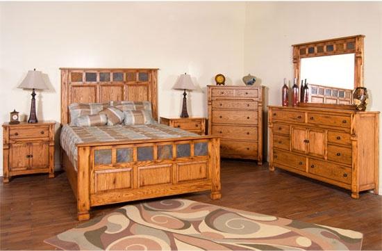 Arizona Rustic Oak Bedroom Set