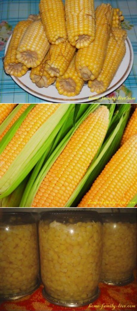 Вареная кукуруза - пошаговый рецепт - заготовкаКулинарные рецепты