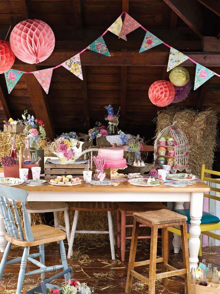 DIY vintage tea party
