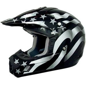 AFX Youth FX-17 Flag Stealth Helmet - Motorcycle Superstore