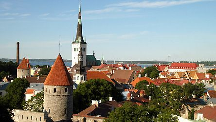 Picture: Tallinn skyline in Estonia copyright BBC / Fred Adler. Site: Handy phrases in Estonian.
