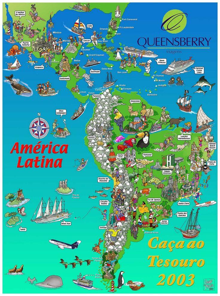 Latin America / (caça ao tesouro= treasure hunt in Portuguese)