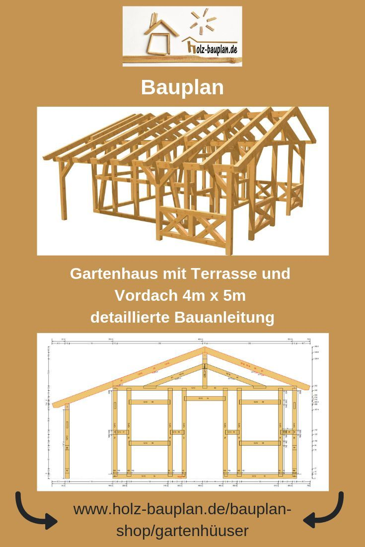 Bauplan Gartenhaus Holzhaus Selber Bauen Gartenhütte Bauen
