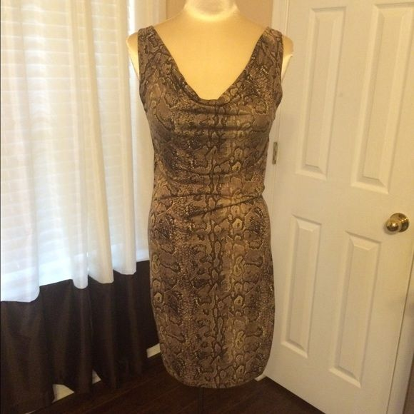 BCBGMaxazria Animal Print Dress in Size S This is a sexy bodycon, animal print dress. Sexy for a night out or add a blazer and wear it to work. This dress is new without tag! BCBGMaxAzria Dresses