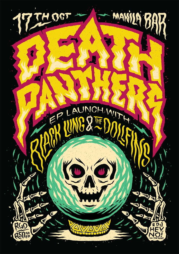 There's a new poster up for Death Panthers that I made last week! Check out my Behance for process!