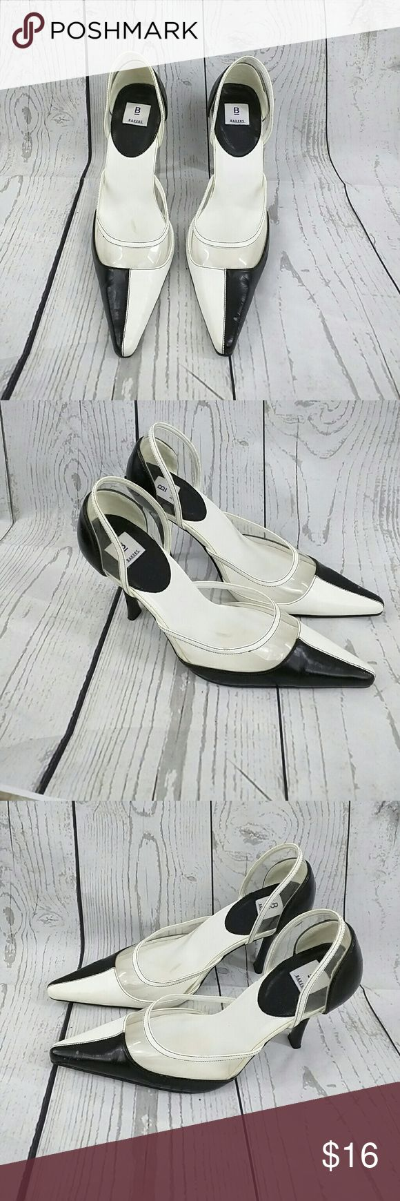 Baker's 8B black and white pumps women shoes Very nice black and white women's pumps shoes heels Bakers Shoes Heels