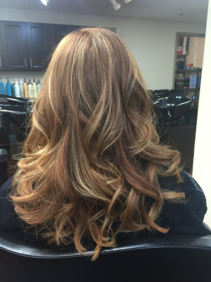 Titian Base Color With Strawberry Blonde Highlights By