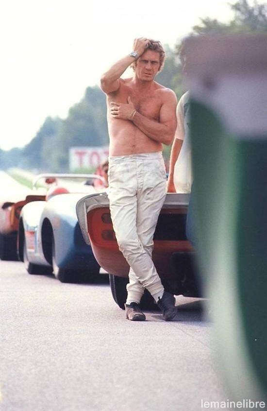 Steve McQueen   Back Set of Le Mans   1971   as Michael Delaney