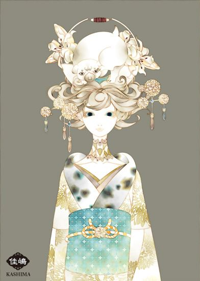 "Art by Kashima. ""The headdress of a dog"" 「戌頭」"