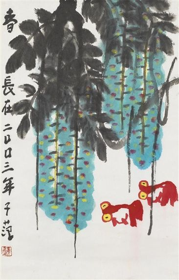 Cui Zifan - Everlasting Spring, 2003, Ink and...