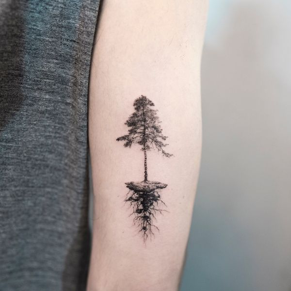 42 Pine Tree Tattoo Ideas To Try In December 2020 Pine Tattoo Tree Tattoo Meaning Roots Tattoo