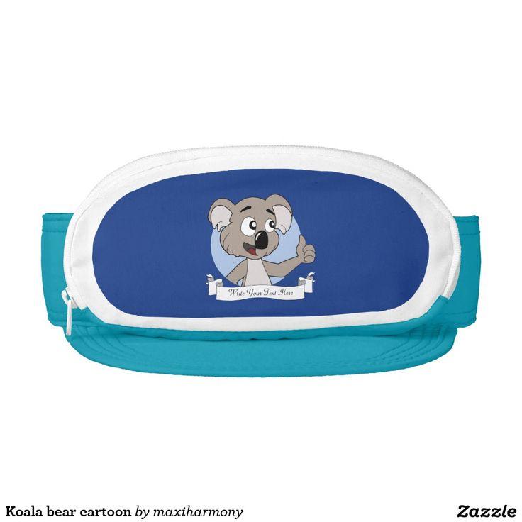 Koala bear cartoon visor