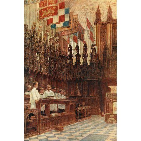 Posterazzi Windsor 1908 St Georges Chapel Canvas Art - George Henton (24 x 36)