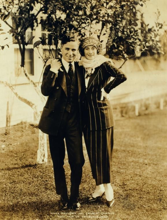 Anna Pavlowa and Charlie Chaplin - Two pair of priceless feet.