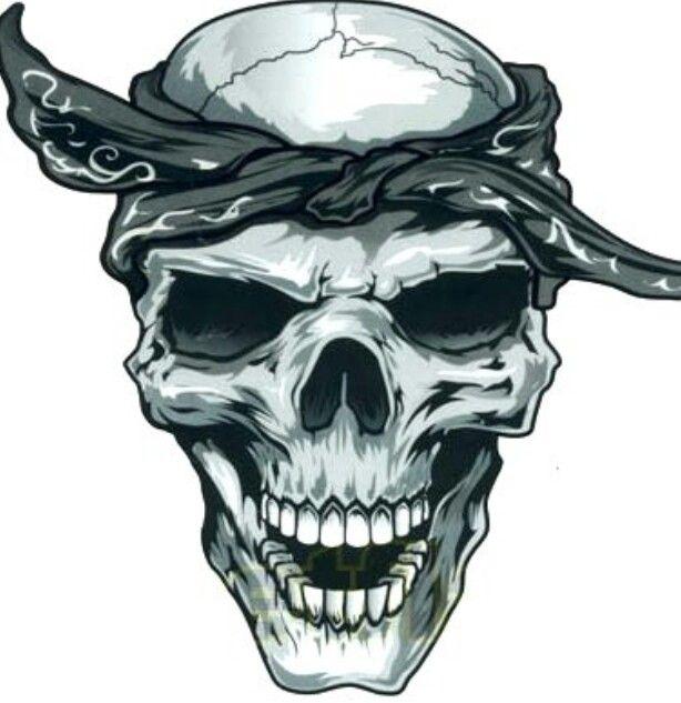 Skull With Bandana Skulls Skeletons Skull Skull Art Tattoos
