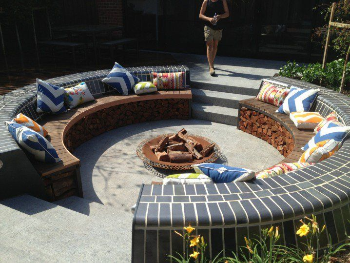Serene Sunken Garden Seating Areas We All Dream About