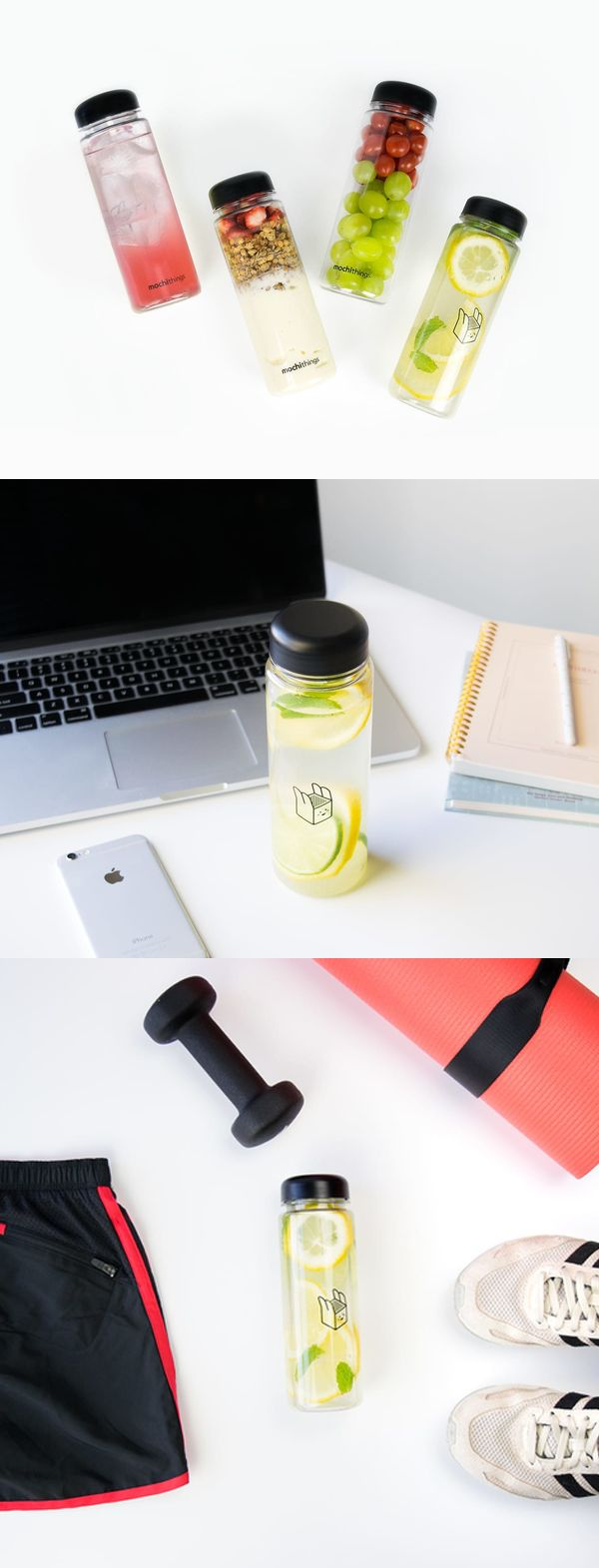 Meet our cute and versatile water bottle with our adorable mochibox design or logo! It is a clear Tritan bottle that holds 500ml of hot or cold liquid. This versatile container can also be used to carry small snacks or fruits too!