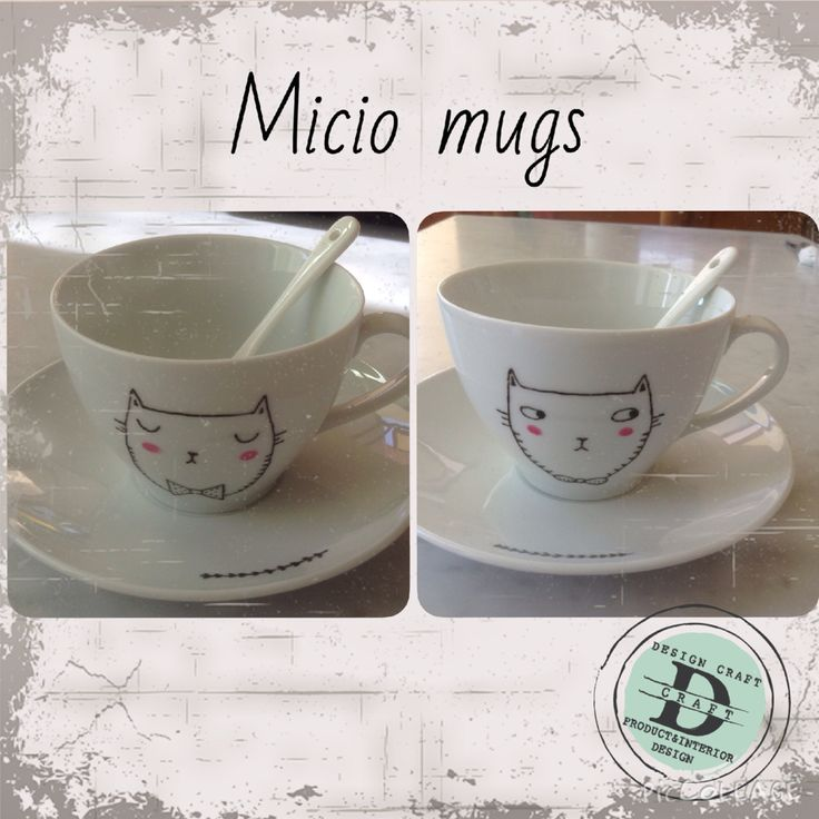 Collezione Micio Mugs, tazze da thè/latte_Design Craft www.designcraft.it