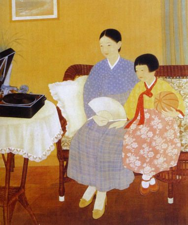 """Kim Ki chang, """"Listening Quietly,"""" 1934"""