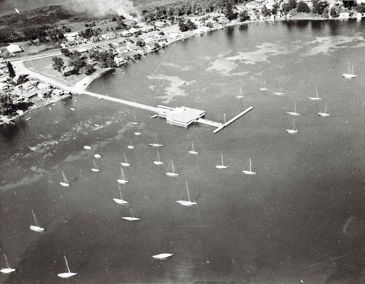 Aerial photo of Lake Macquarie Yacht Club, Ada Street, Belmont NSW