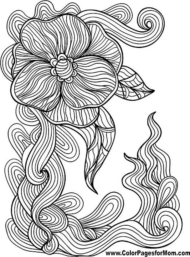 Coloring Pages Of Flowers For Free : 51 best flowers free adult coloring pages images on pinterest