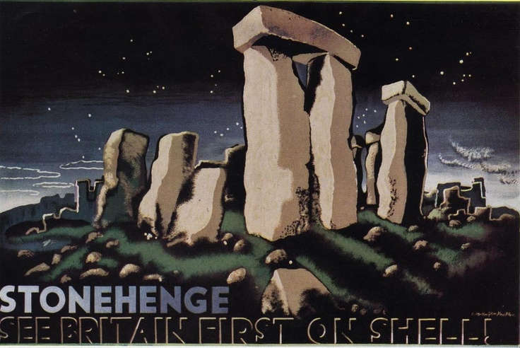 Stonehenge  Edward McKnight Kauffer  1931Vintage Posters, Travel Postersephemera, Edward Mcknight, Stonehenge, Picture-Black Posters, Favourite Places, Mcknight Kauffer, Shells Posters, Vintage Travel