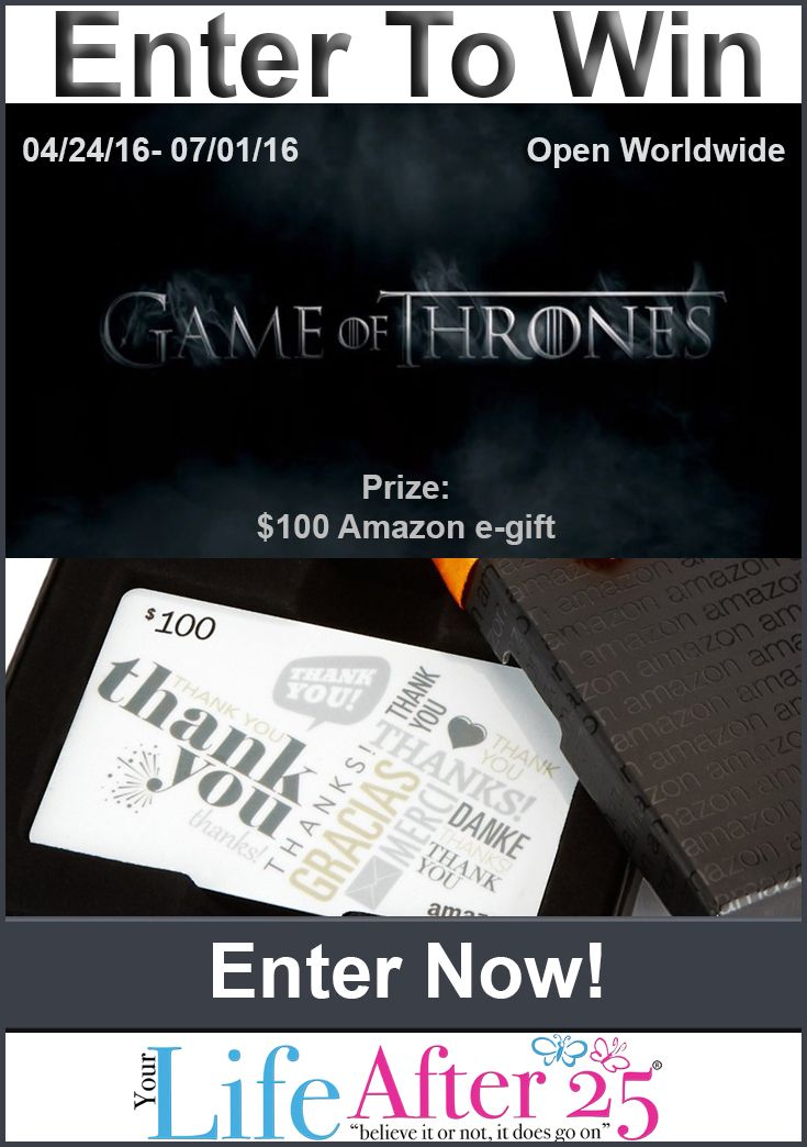 Enter @YourLifeAfter25's #GameOfThrones Fan Prize Pack #Giveaway