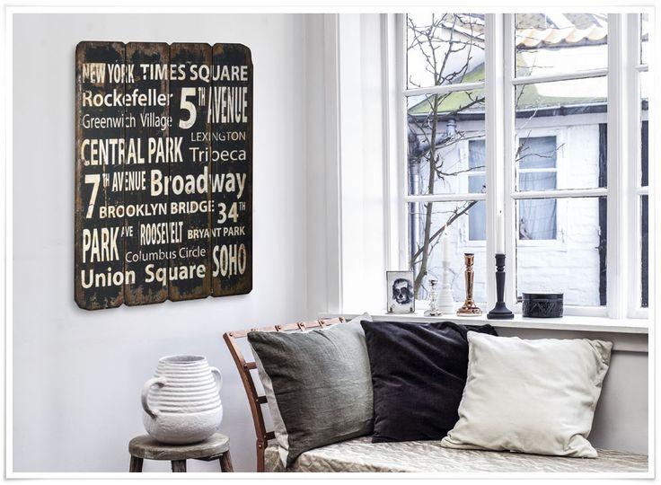 panneau new york city en bois imitation vieilli imitation vieilli bois  ~ Panneau Bois Vieilli