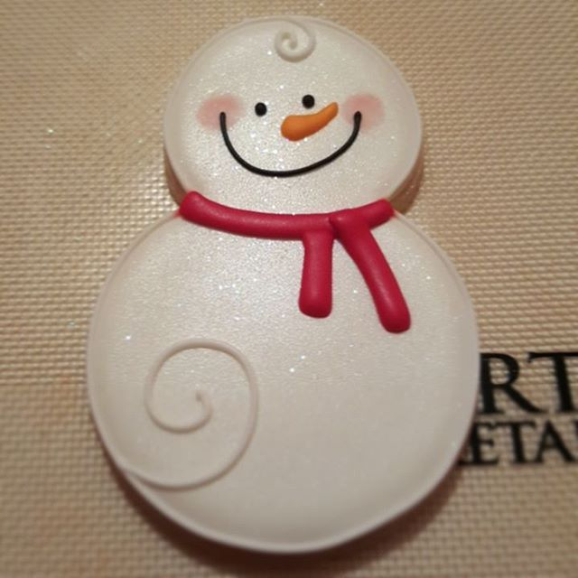 The cuteness is much. #snowman #decoratedcookies #sugarcookies #royalicing #christmas