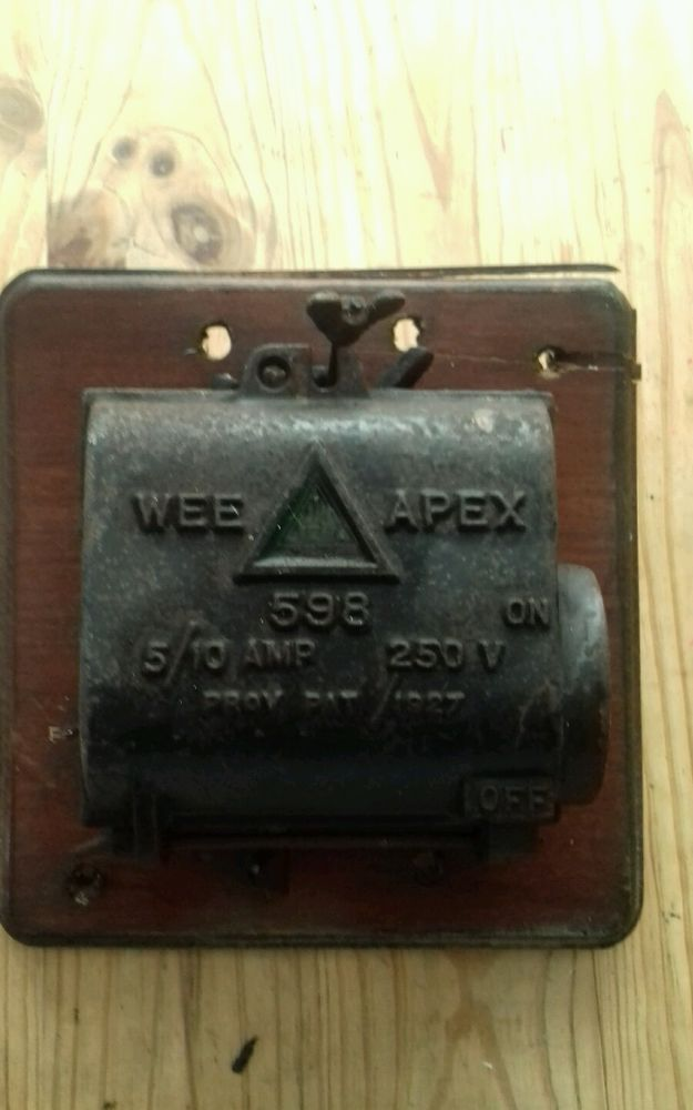Vintage Cast Iron Web Apex Electrical Fuse Box With Images