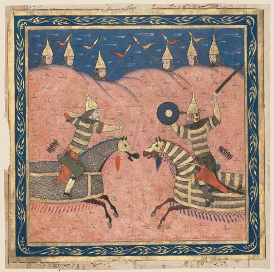 "Firdawsi's ""Shahnama"": Combat of Two Soldiers. Northern India.mim:"