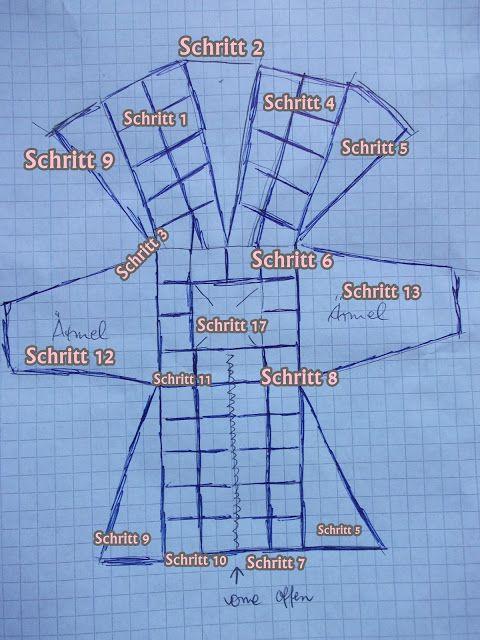 jacke mantel in patchwork nach horst schulz mit ausf hrlicher anleitung stricken pinterest. Black Bedroom Furniture Sets. Home Design Ideas