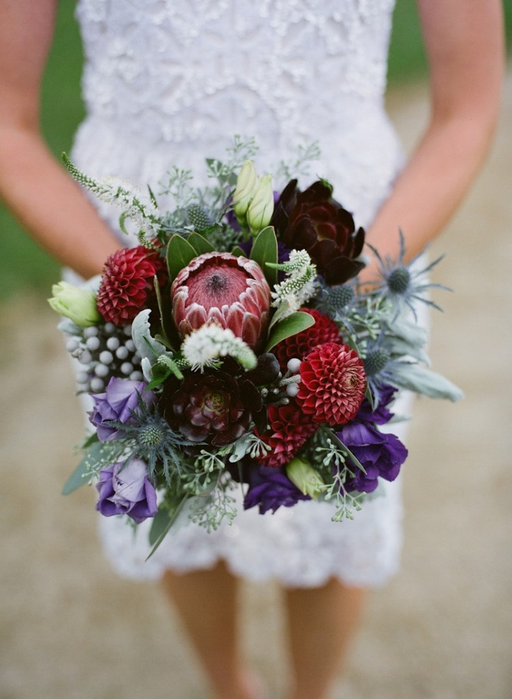 Rich #jewel toned #wedding #bouquet. Beautiful for a fall wedding |Pinned from PinTo for iPad|
