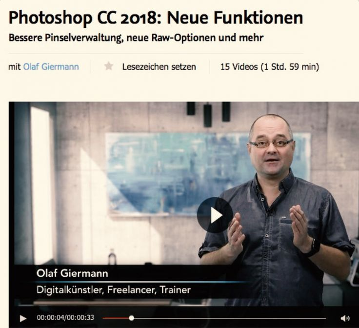 Adobe Photoshop CC 2018 und Lightroom-Updates