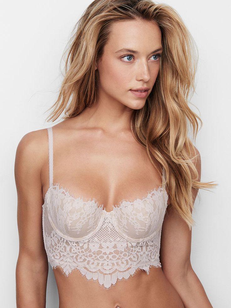 Floral Lace Long Line Demi Bra - Dream Angels - Victoria's Secret