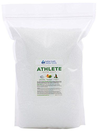 Athlete Bath Salt 12 Pounds Bulk Size  Free Priority Shipping  Epsom Salt Bath Soak With Pine  Eucalyptus Essential Oils Plus Vitamin C  All Natural Post Workout Soak For Tired Sore Muscles * Want additional info? Click on the image.