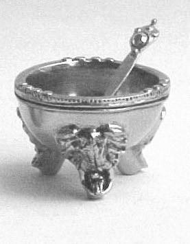 Pewte Elephant 3 Legged Bowl & Spoon. www.goodieshub.om