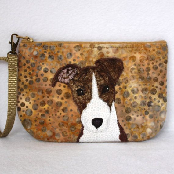 Greyhound Whippet Puppy Dog Handmade Wristlet by Dressed2theK9s